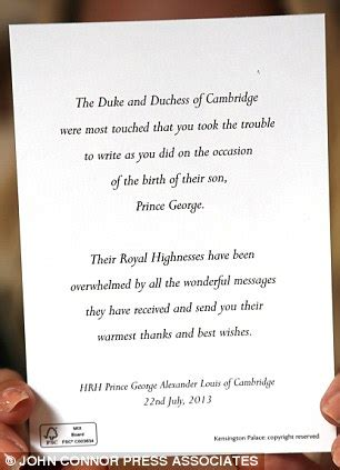 thank you letter to birth parents prince william and kate send royal wellwishers after