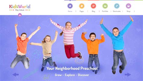 theme junkie the world 22 best wordpress themes for kids and children 2018