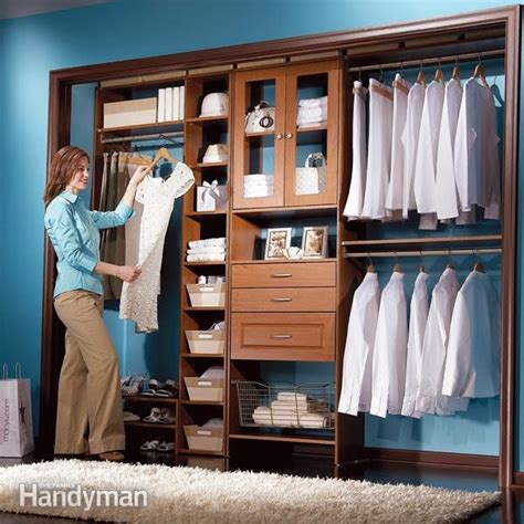 ready made closet cabinets closet organizers storage the family handyman