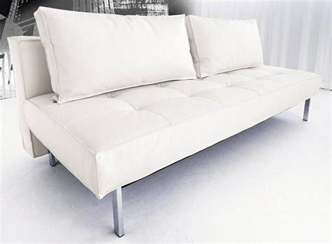 canape cuir lit canape lit design sly deluxe facon cuir blanc innovation convertible lit 140 200 cm
