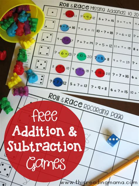 printable addition games for first grade printable addition games for first graders second grade