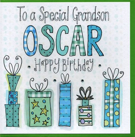 card grandson personalised grandson birthday card by sowden