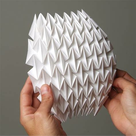 Folded Paper Sculpture - folding techniques for designers paper craft