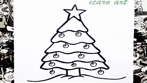 como dibujar un 225 rbol de navidad how to draw a christmas