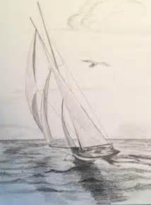 three sails sailboat original pencil drawing by paintingjimmy1