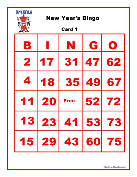 new year picture bingo kidscanhavefun activities crafts