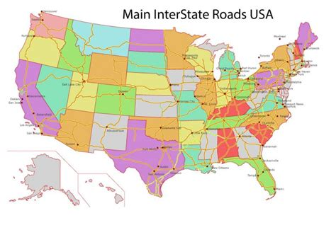 free vector usa map free vector map us interstate roads adobe illustrator