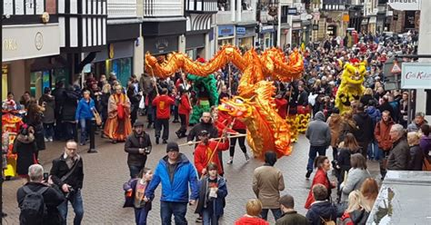new year parade chester chester celebrates the year of the rooster