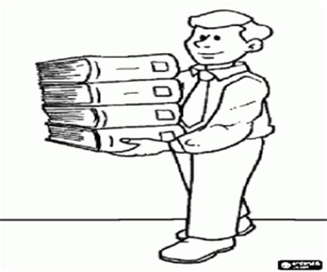 Several Jobs Coloring Pages Printable Games 3 Librarian Coloring Page