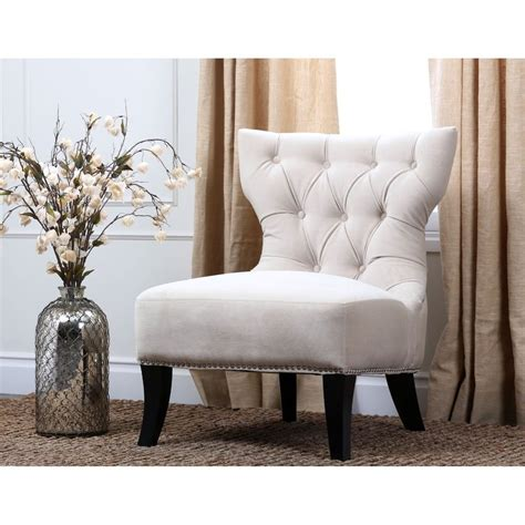 home decor accent abbyson living sedona light cream microsuede nailhead