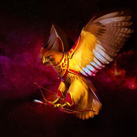 Wood Frame Poster 206 bird predator bow falcon yellow clothes animal