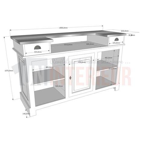 hauteur comptoir cuisine hauteur meuble cuisine 1 meuble comptoir bar 180cm pin
