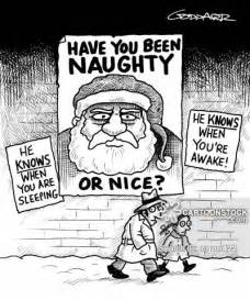 Seasonal celebrations christmas santa father christmas watching