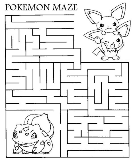 Printable Pokemon Activity Sheets | hello pokemon fans ehre is a printable maze for you all