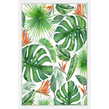 tropical leaves wall art temple webster
