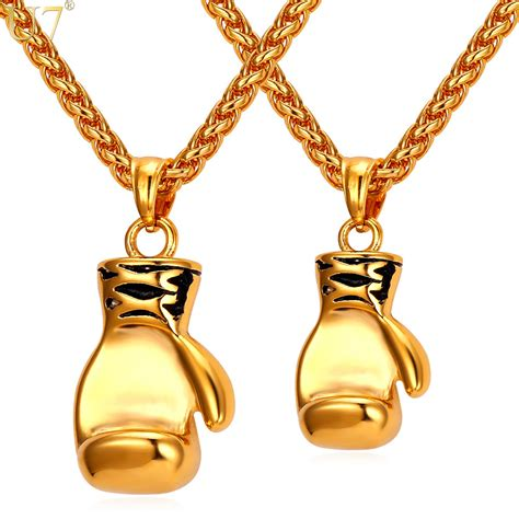 boxing glove necklaces pendants stainless steel fitness