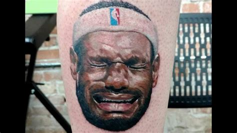 lebron tattoo tattoos lebron on his leg