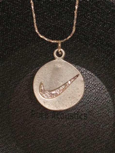 nike pendant vintage nike sterling silver pendant necklace