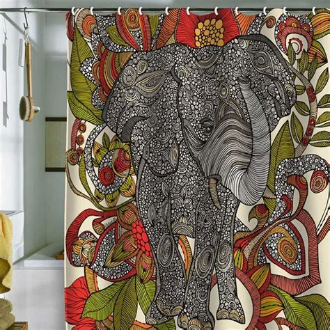 elephant shower curtain deny designs valentina ramos bo the elephant shower curtain eclectic shower curtains by