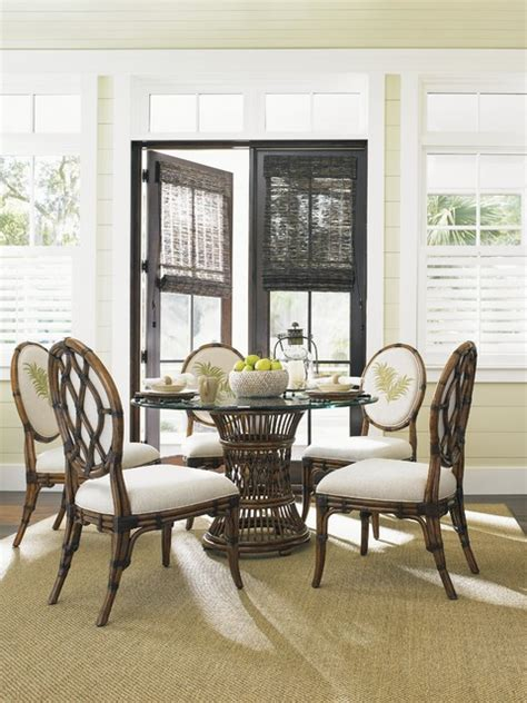 tropical dining room sets tommy bahama home bali hai tropical 7 piece single