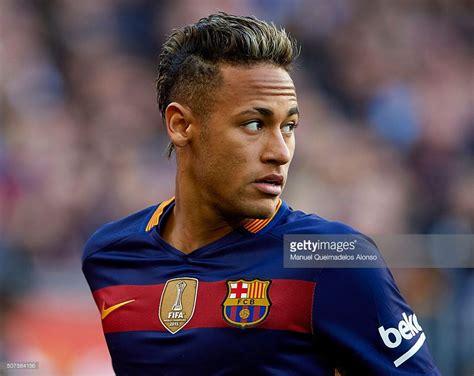 neymar jr of barcelona looks on during the la liga match