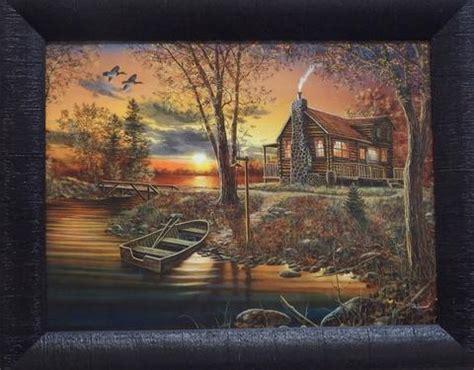 after dark jim hansel cabin framed country picture print interio home decor ebay studio canvas wildlifeprints com