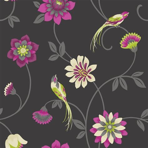 Where To Buy Wallpaper by Buy Decor Bird Wallpaper Black Pink Green
