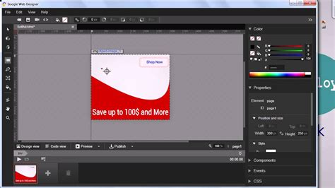 tutorial google web designer banner google web designer tutorial create banner ad youtube