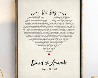wedding anniversary song for husband in gift for etsy