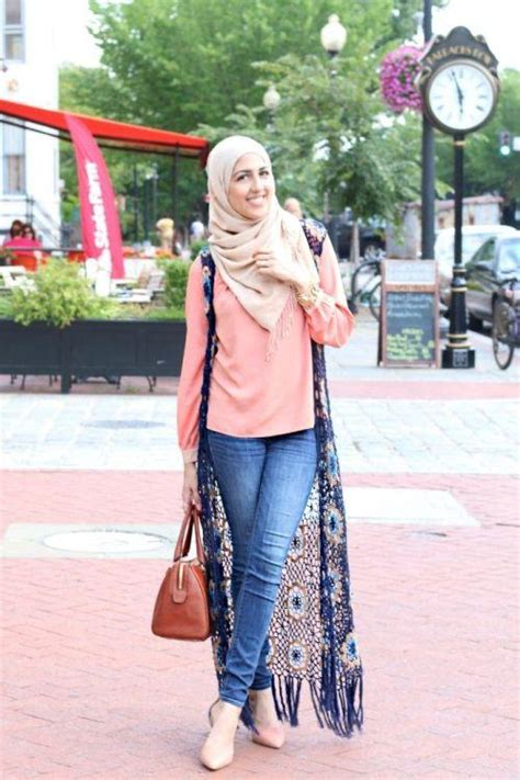Coat Putih Cina Modis 2016 with jeans 19 modest this season
