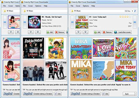 download mp3 with album art creevity software mp3 cover downloader freeware