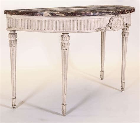 Ivory Console Table Italian Demilune Ivory Painted Console Table For Sale At 1stdibs