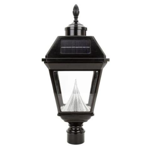 Gama Sonic Imperial Solar Black Outdoor Led Post Light On Home Depot Solar Post Lights
