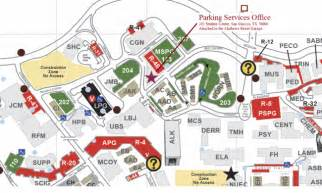 Texas State Parking Map by Parking Services Texas State University