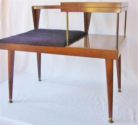 telephone table with bench mid century modern table telephone table bench danish