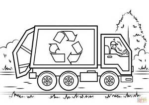 printable coloring pages garbage truck recycling truck coloring page free printable coloring pages