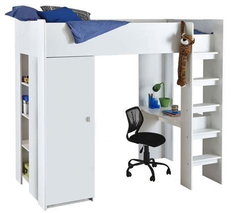 letto a soppalco con armadio letto soppalco per bambini con armadio e scrittoio bianco