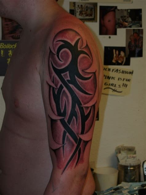 tribal tattoos with color shading tribal and shading by nick cook picture at