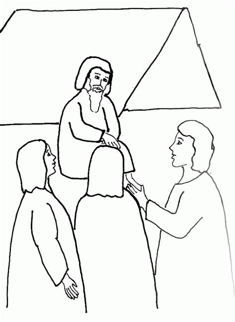 bible story coloring page for angels visit abraham free