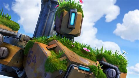 wallpaper overwatch bastion  games