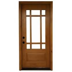 36 Front Door Steves Sons 36 In X 80 In Craftsman 9 Lite Stained Knotty Alder Wood Prehung Front Door