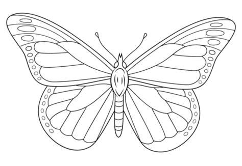 zebra butterfly coloring page dibujo de mariposa monarca para colorear dibujos para