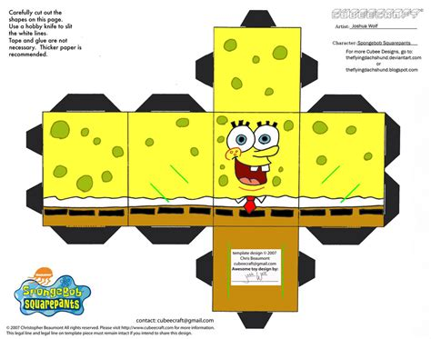 How To Make Spongebob With Paper - spongebob ss spongebob squarepants cubee by
