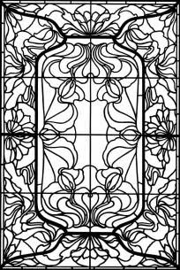 stained glass coloring books embroidery patterns stitches on vintage
