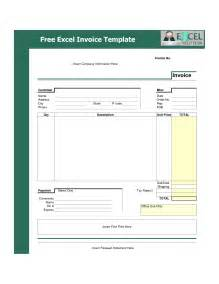 excel template for invoice free template exle of excel company invoice with green