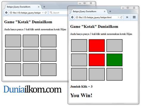 membuat game sederhana dengan c belajar cara membuat game web dengan jquery duniailkom