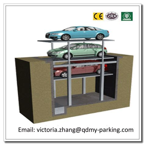 Garage Lift System by 2 3cars Residential Pit Garage Parking Car Lift Hydraulic