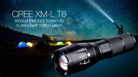 Lu Led Xml T6 cree xm l t6 1 led 3800lm 5 modes zoom led flashlight torch light