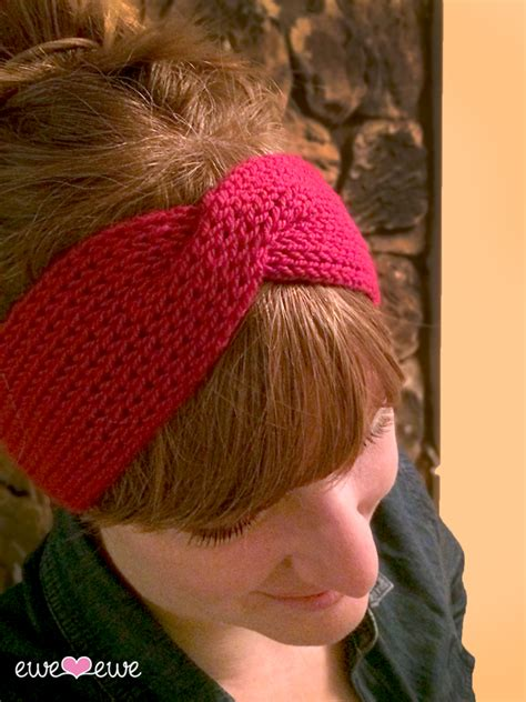 free pattern knitted headband hot mess headband free knitting pattern ewe ewe yarns