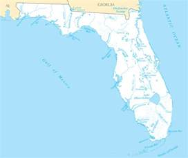 florida river map florida rivers and lakes mapsof net